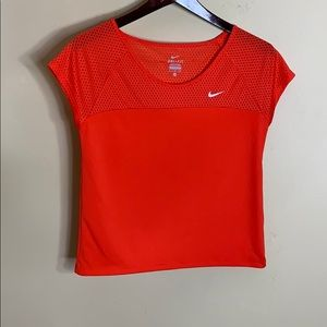 Nike Dr-Fit red short sleeve crop style top